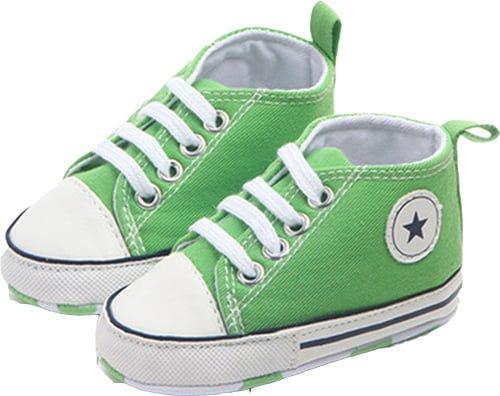 Babysko grön converse