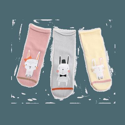 Animal babysockor 3-paket