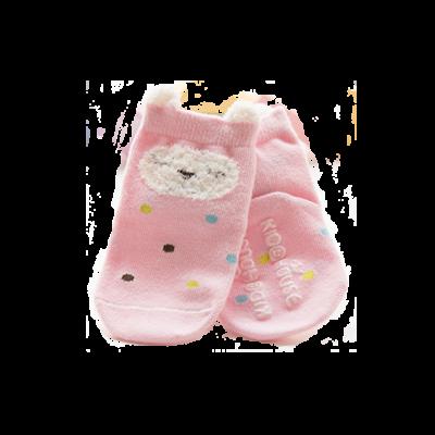 Djur combed cotton babysocka rosa