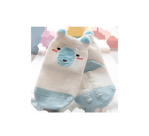 Roliga babysockor blåvit