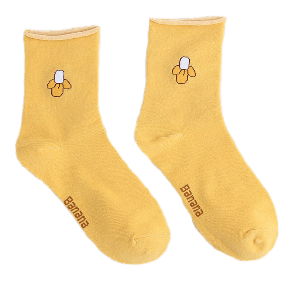 Babysockor gula banan halkskydd