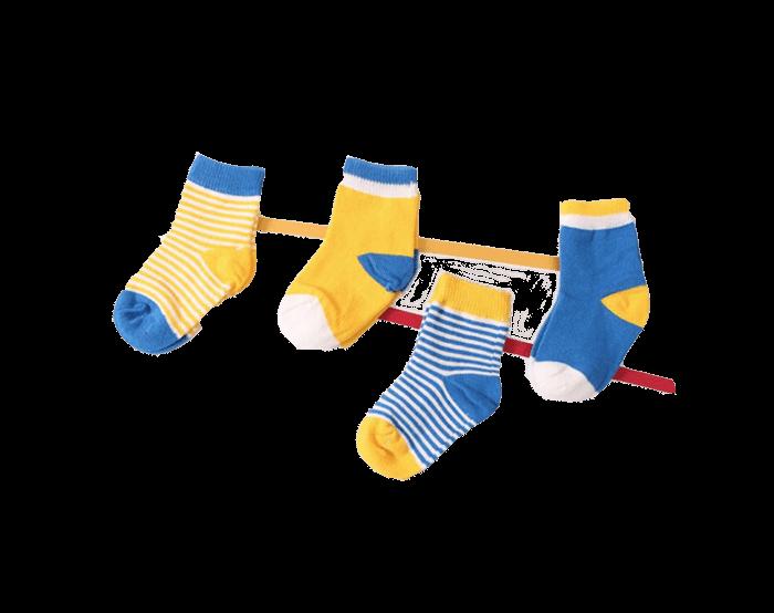 Sverige babysockor 4-pack