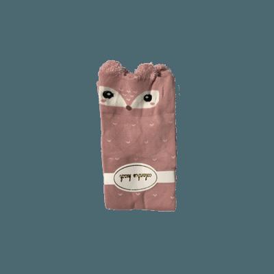 gammel rosa räv barnstrumpa