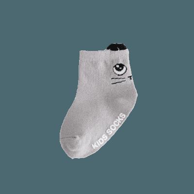 grå filur babysocka